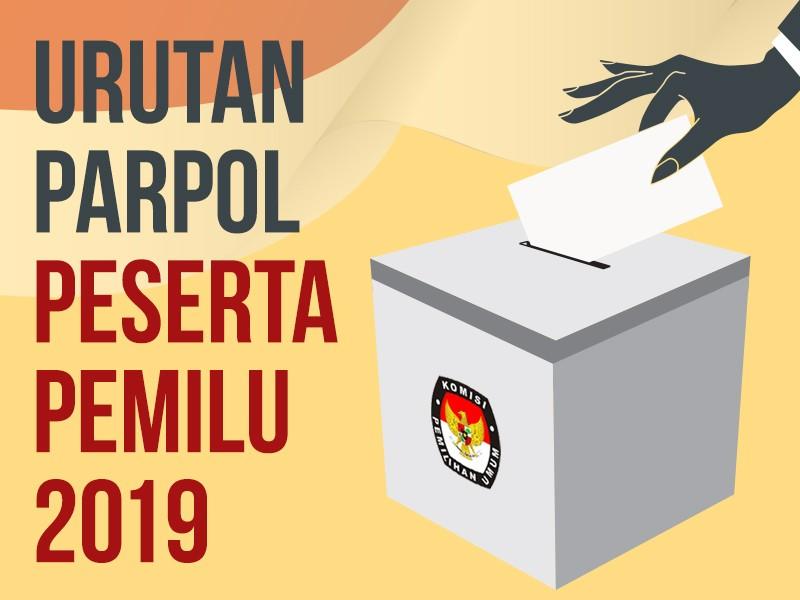 Infografis: Urutan Parpol Peserta Pemilu 2019