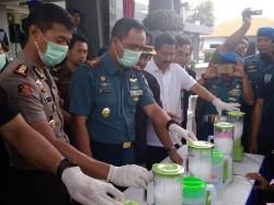 1,2 Kilogram Sabu Jaringan Aceh Dimusnahkan di Lanudal Juanda