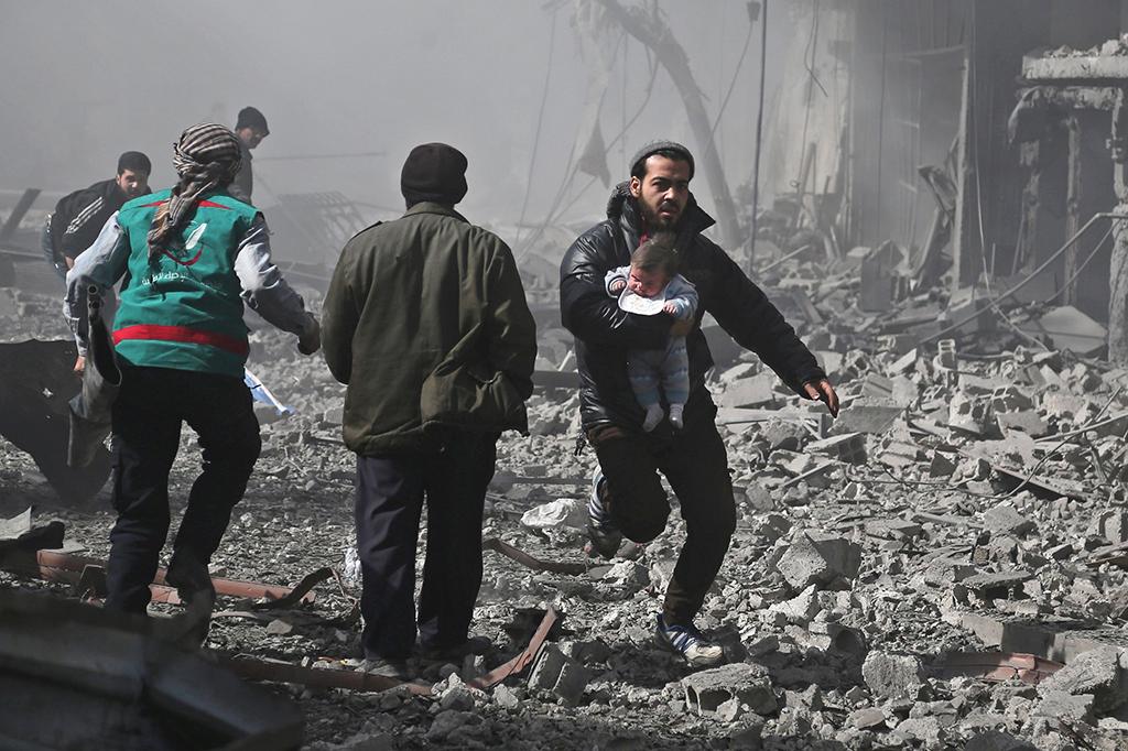 Pasukan Suriah Kembali Serang Ghouta Timur, 77 Orang Tewas