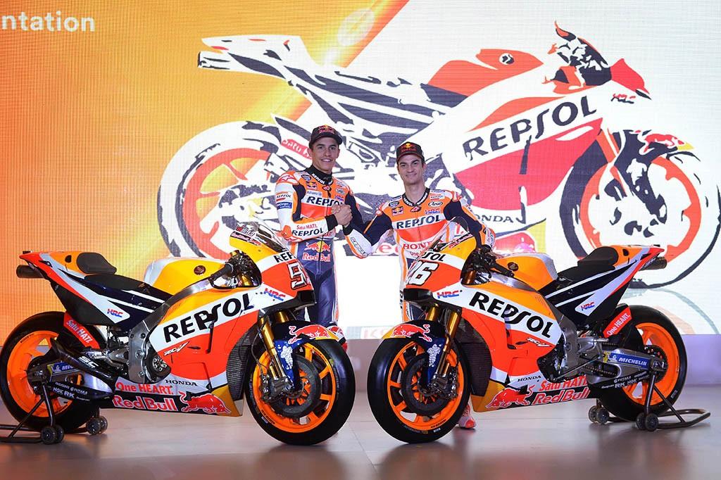 Repsol Honda Pamerkan Motor Baru Marquez dan Pedrosa di Jakarta