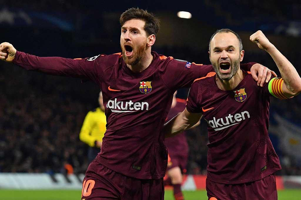 Messi Cetak Gol Perdana ke Gawang Chelsea