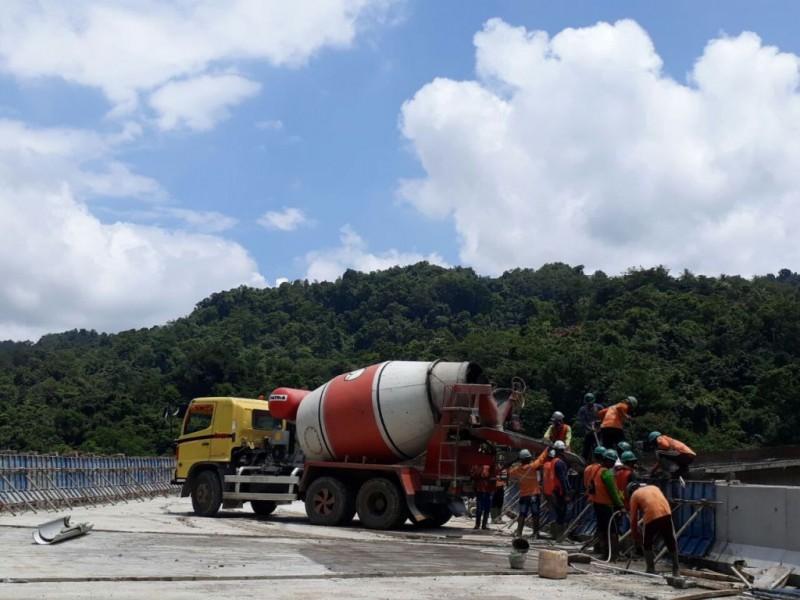 (BBPJN XIII Makassar) | Proyek jalan layang Camba, Kabupaten Maros, Sulsel.--Istimewa--