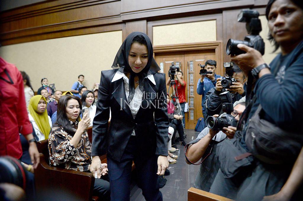 Bupati Rita Widyasari Jalani Sidang Perdana