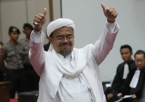 Imam besar Front Pembela Islam (FPI) Rizieq Shihab. MI/Ramdani.