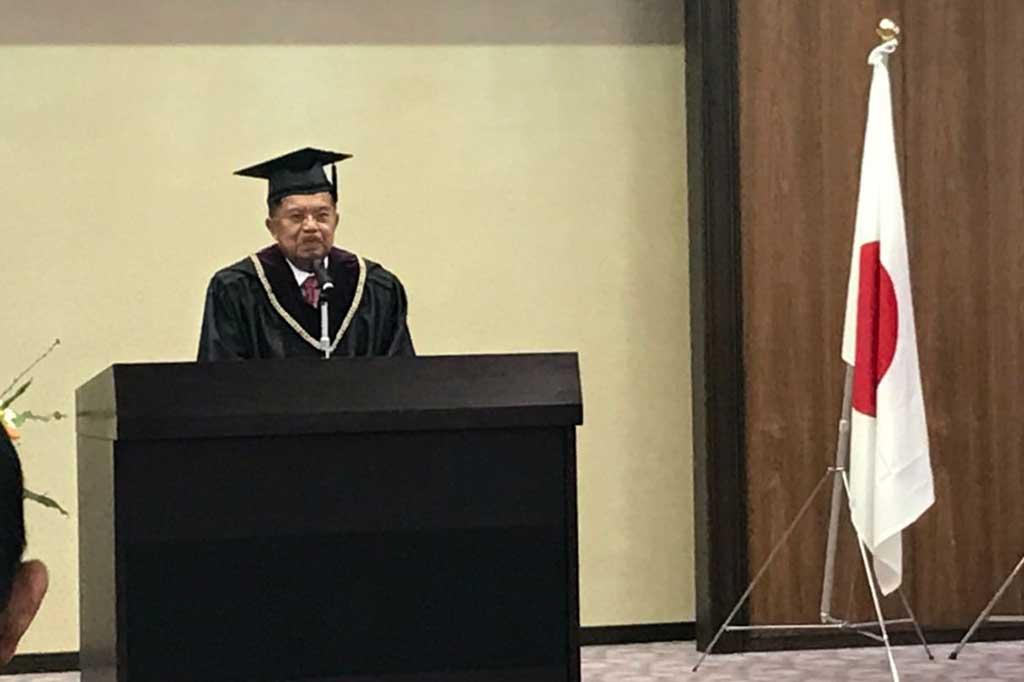 Jusuf Kalla Terima Gelar Doktor HC dari Universitas Hiroshima
