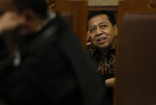 Terdakwa kasus korupsi KETP-el Setya Novanto - MI/Ramdani.
