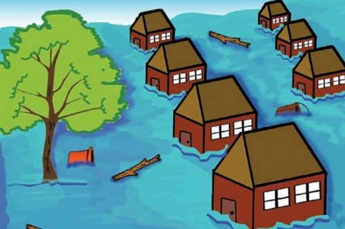 Ilustrasi banjir, Medcom.id