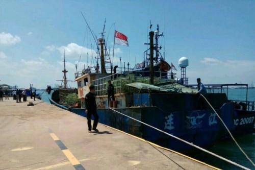 Kapal Taiwan berbendera Singapura yang membawa 1,6 ton sabu
