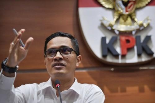 Juru bicara KPK Febri Diansyah/ANT/Sigid Kurniawan