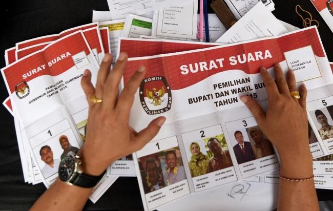 Surat suara [ilustrasi]. (foto: ANTARA/Sigid Kurniawan).