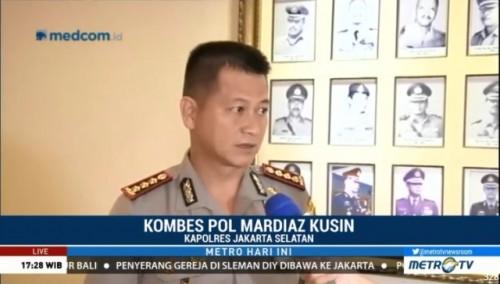 Kapolres Jakarta Selatan Kombes Mardiaz Kusin.