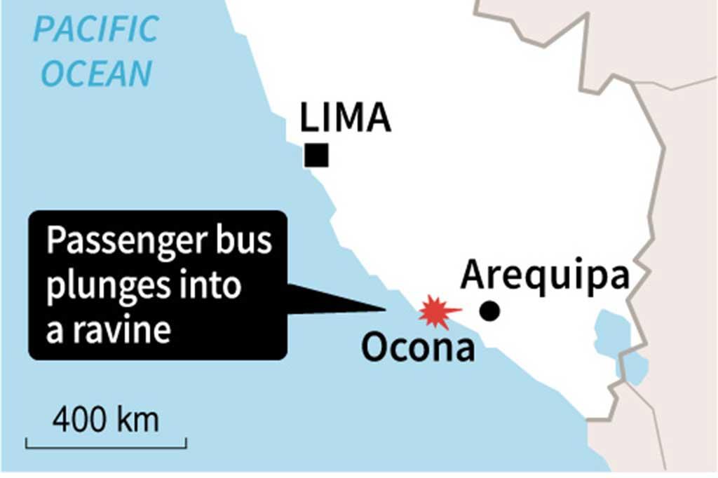 Bus Terjun ke Jurang, 44 Orang Tewas