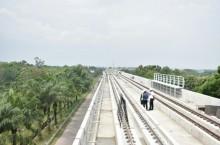 Pengerjaan LRT Palembang tak Terganggu Moratorium