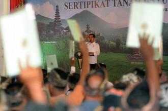 2019, Presiden Targetkan Seluruh Bali Bersertifikat