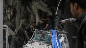 Serangan di Ghouta Makin Gencar, 417 Jiwa Warga Tewas