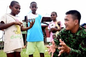 Pemerintah Luncurkan Program Tentara Masuk Desa di Asmat