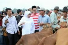 Sambangi Pasar Tanah Merah Khofifah Dicurhati Pedagang
