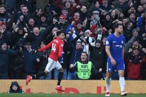 Sundulan Lingard Pastikan Kemenangan MU atas Chelsea