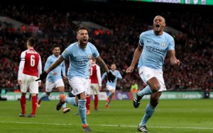 Hancurkan Arsenal, City Raih Gelar Kelima Piala Liga Inggris