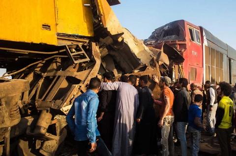 Tabrakan Dua KA di Mesir Tewaskan 12 Orang