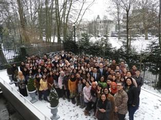 Pelajar Indonesia yang menerima Beasiswa StuNed. (Foto: