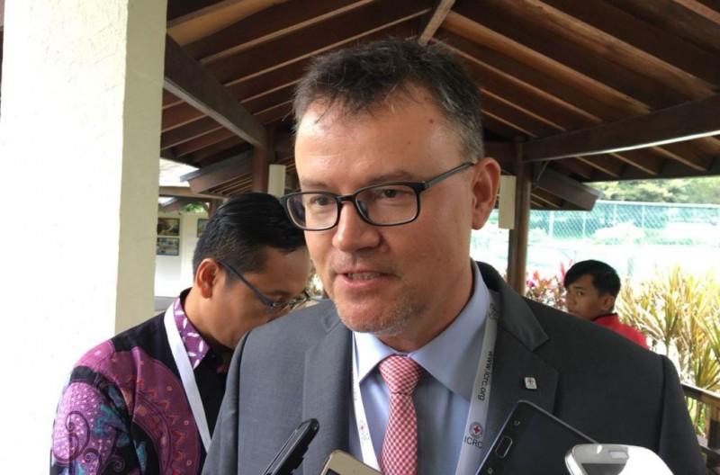 Direktur Regional ICRC untuk Indonesia dan Timor Leste, Christoph Sutter (Foto: Sonya Michaella).