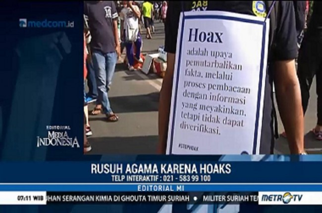 Rusuh Agama karena Hoaks