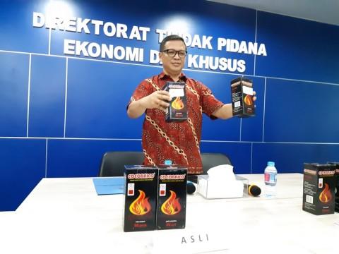 Bareskrim Polri Tangkap Produsen Arang Shisha Palsu