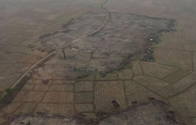Kondisi Rakhine State sekarang, diambil dari citra satelit. (Foto: AFP)