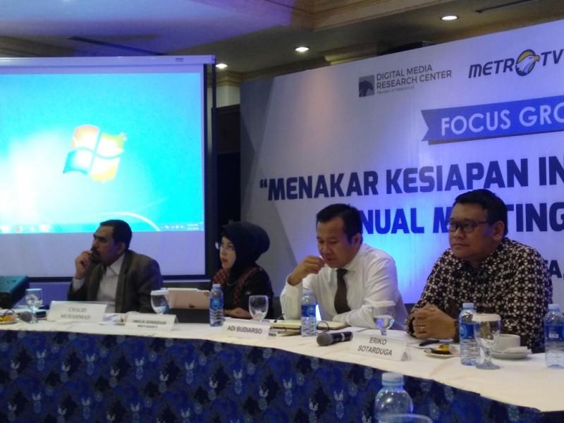 Chief of Organisational Transformation Officer Kemenkeu Adi Budiarso (kedua dari kanan). FOTO: (Medcom.id/Kautsar)