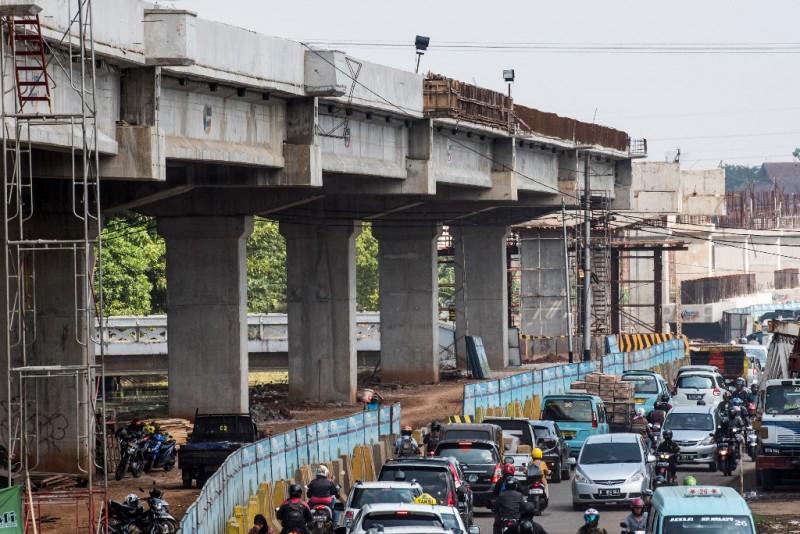 Ilustrasi Jalan Kalimalang macet - ANT/M Agung Rajasa.