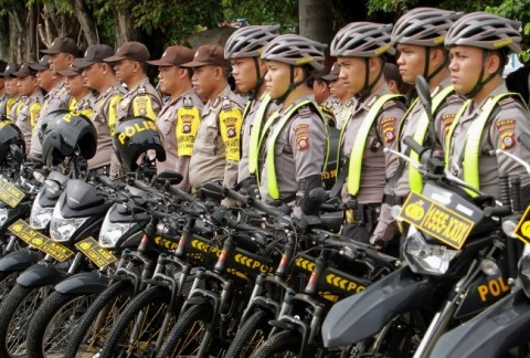 Ilustrasi pengamanan oleh Polisi