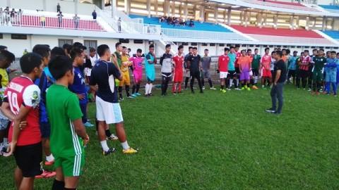Suasana seleksi di PSIM Yogyakarta-Medcom.id/Ahmad Mustaqim