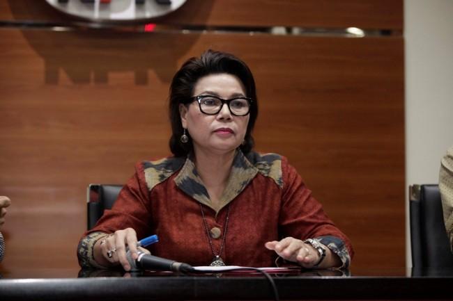 Wakil Ketua KPK Basaria Panjaitan di Gedung KPK, Jakarta, Selasa (6/6). Foto: MI/ ROMMY PUJIANTO.