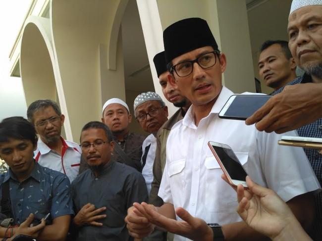 Wakil Gubernur DKI Jakarta Sandiaga Uno. Foto: Medcom.id/Nur Azizah