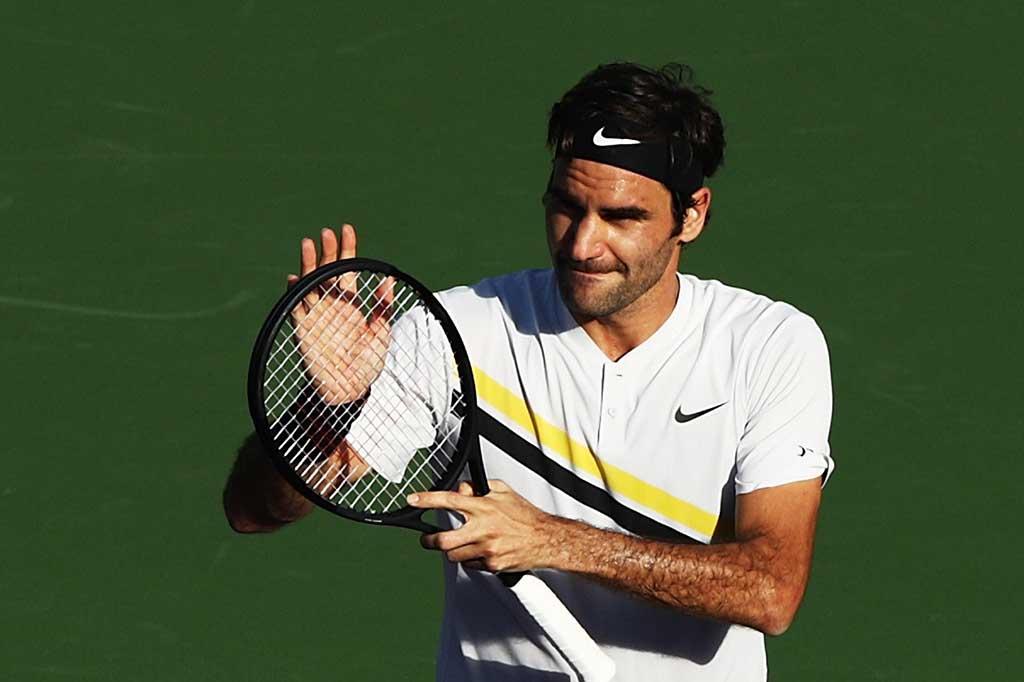 Federer Singkirkan Chardy di BNP Paribas Open