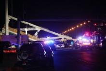 4 Orang Tewas Tertimpa Jembatan Ambruk di Florida