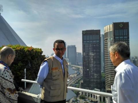 Gubernur DKI Jakarta Anies Baswedan usai memimpin Apel Razia