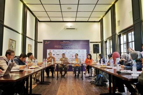 Jumpa pers bursa kerja yang digelar ITB di Bandung, Jumat, 16