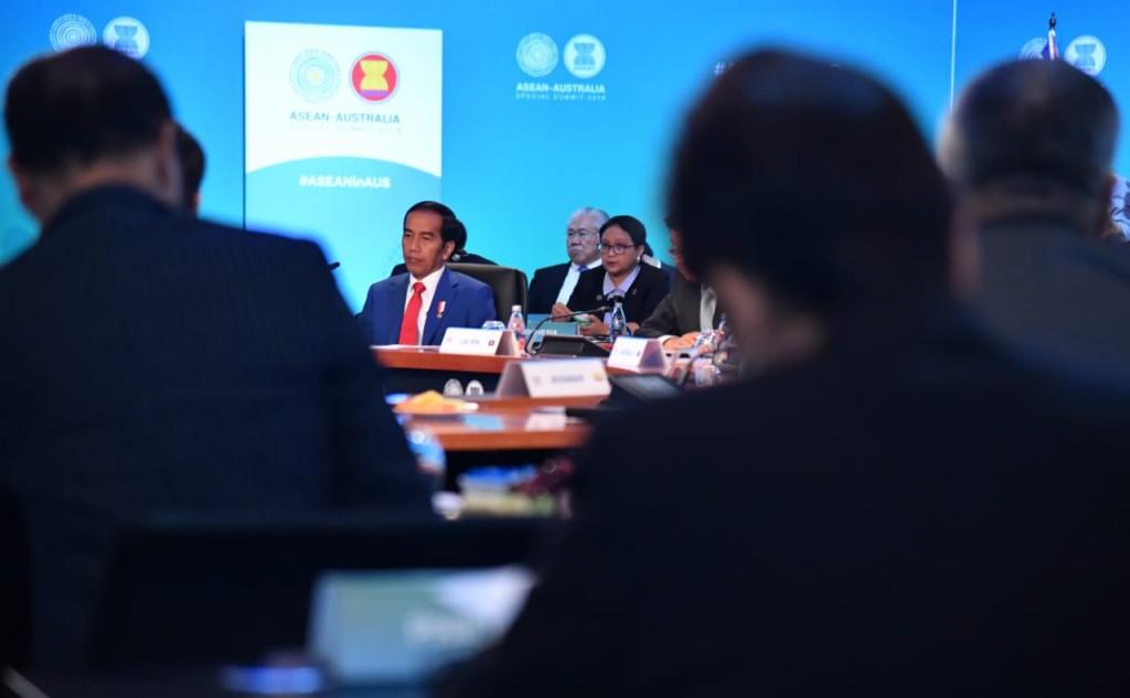 Presiden Joko Widodo di KTT Istimewa ASEAN-Australia 2018. Foto: Biro Pers Istana.