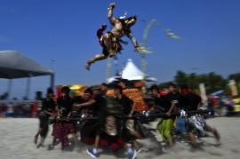 Kemeriahan Festival Ogoh-ogoh di Ancol