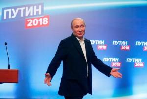Vladimir Putin Menang Besar di Pilpres Rusia