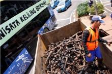 Tumpukan Kabel Bekas Ditemukan di Sekitar Balai Kota