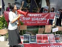 Migran Care Demo di Kedubes Arab Saudi