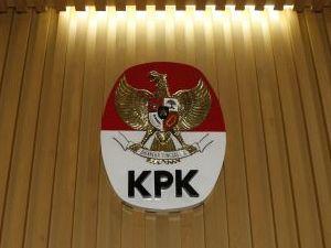 Lambang KPK. Foto: MI/Rommy Pujianto.