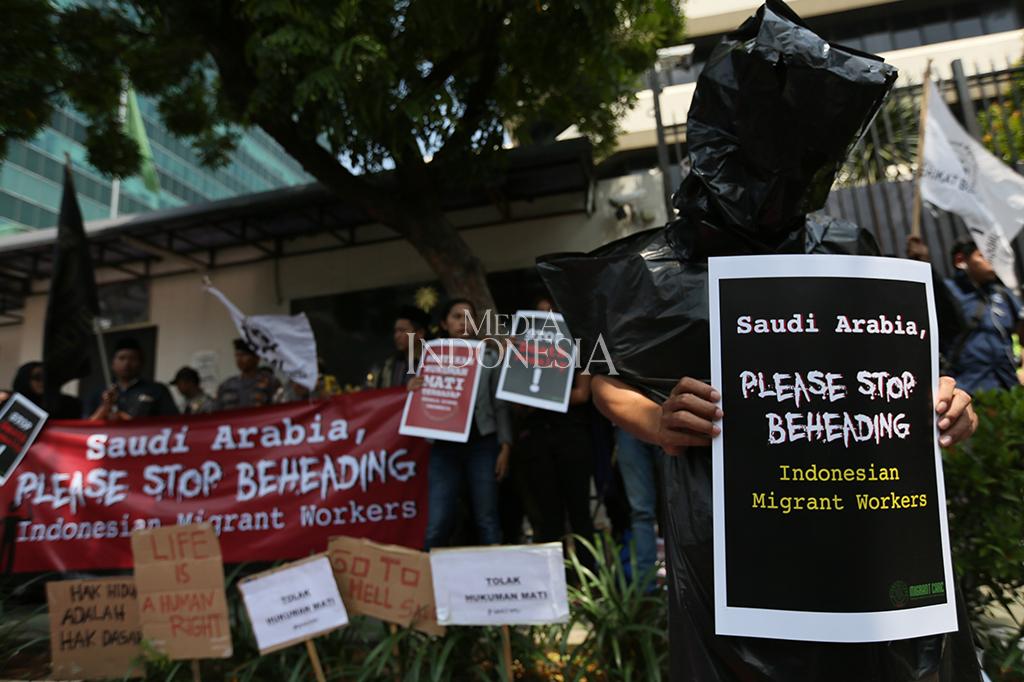 Protes Eksekusi Misrin, Aktivis Gelar Aksi di Kedubes Arab Saudi