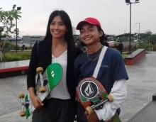 Putri Indonesia Kunjungi Pelatnas Skateboard, Atlet Gagal fokus