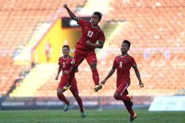 Gol Spektakuler Febri Bungkam Singapura di Babak Pertama