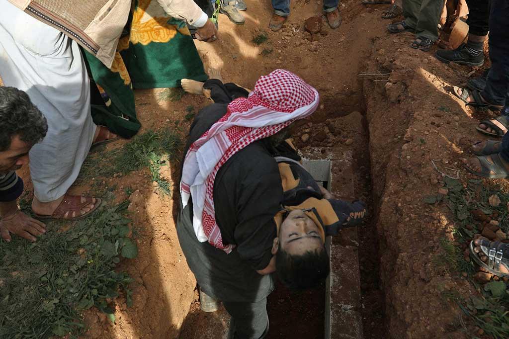 Serangan Udara di Suriah Tewaskan 16 Anak