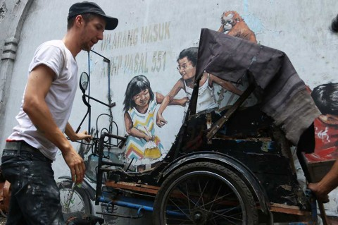 Mural Karya Pelukis Dunia di Medan Akhirnya Diperbaiki